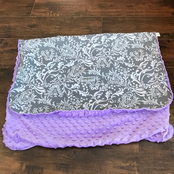 Car Seat Canopy Grey White Paisley And Purple